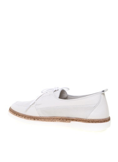 Greyder Greyder Kadın Koyu Beyaz Düz Ayakkabı 1Y2Ua57466 Beyaz